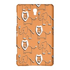 Lion Pattern Wallpaper Vector Samsung Galaxy Tab S (8 4 ) Hardshell Case