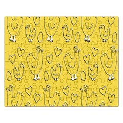 Chicken Chick Pattern Wallpaper Rectangular Jigsaw Puzzl by Nexatart
