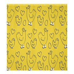 Chicken Chick Pattern Wallpaper Shower Curtain 66  X 72  (large)