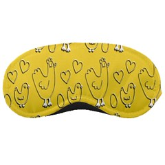 Chicken Chick Pattern Wallpaper Sleeping Masks
