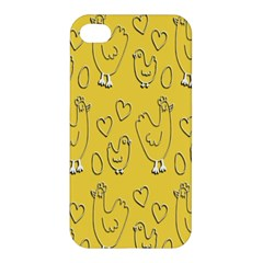 Chicken Chick Pattern Wallpaper Apple Iphone 4/4s Premium Hardshell Case