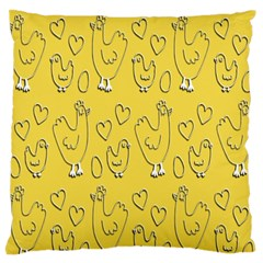 Chicken Chick Pattern Wallpaper Standard Flano Cushion Case (two Sides) by Nexatart