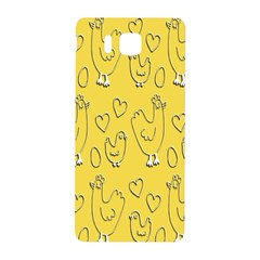 Chicken Chick Pattern Wallpaper Samsung Galaxy Alpha Hardshell Back Case by Nexatart