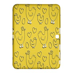 Chicken Chick Pattern Wallpaper Samsung Galaxy Tab 4 (10 1 ) Hardshell Case