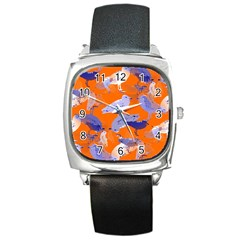 Seagull Gulls Coastal Bird Bird Square Metal Watch