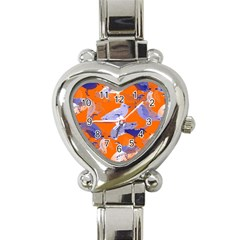 Seagull Gulls Coastal Bird Bird Heart Italian Charm Watch by Nexatart