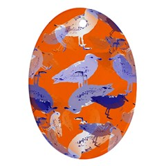 Seagull Gulls Coastal Bird Bird Oval Ornament (two Sides) by Nexatart