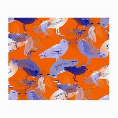 Seagull Gulls Coastal Bird Bird Small Glasses Cloth (2 Side) by Nexatart