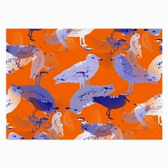 Seagull Gulls Coastal Bird Bird Large Glasses Cloth by Nexatart
