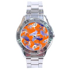 Seagull Gulls Coastal Bird Bird Stainless Steel Analogue Watch by Nexatart