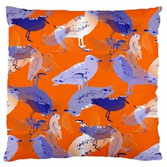Seagull Gulls Coastal Bird Bird Large Flano Cushion Case (one Side) by Nexatart