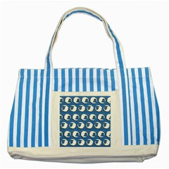 Sheep Pattern Wallpaper Vector Striped Blue Tote Bag