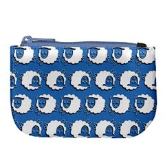Sheep Pattern Wallpaper Vector Large Coin Purse