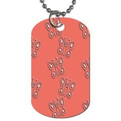 Butterfly Pink Pattern Wallpaper Dog Tag (one Side) by Nexatart
