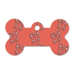 Butterfly Pink Pattern Wallpaper Dog Tag Bone (two Sides) by Nexatart