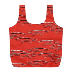 Crocodile Alligator Pattern Full Print Recycle Bags (l)  by Nexatart