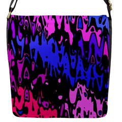 Modern Abstract 46b Flap Messenger Bag (s) by MoreColorsinLife