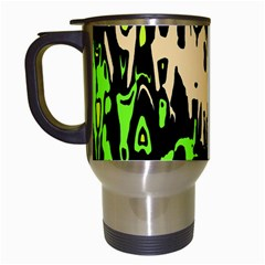 Modern Abstract 46c Travel Mugs (white) by MoreColorsinLife