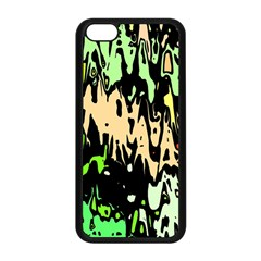 Modern Abstract 46c Apple Iphone 5c Seamless Case (black) by MoreColorsinLife