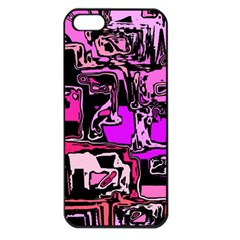 Modern Abstract 47b Apple Iphone 5 Seamless Case (black) by MoreColorsinLife