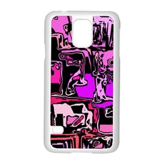Modern Abstract 47b Samsung Galaxy S5 Case (white) by MoreColorsinLife