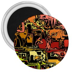 Modern Abstract 47c 3  Magnets by MoreColorsinLife