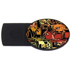 Modern Abstract 47c Usb Flash Drive Oval (2 Gb) by MoreColorsinLife