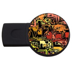 Modern Abstract 47c Usb Flash Drive Round (4 Gb) by MoreColorsinLife
