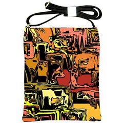 Modern Abstract 47c Shoulder Sling Bags by MoreColorsinLife