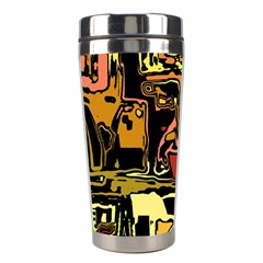 Modern Abstract 47c Stainless Steel Travel Tumblers by MoreColorsinLife