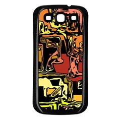 Modern Abstract 47c Samsung Galaxy S3 Back Case (black) by MoreColorsinLife