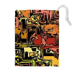 Modern Abstract 47c Drawstring Pouches (extra Large) by MoreColorsinLife