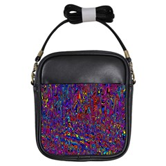 Modern Abstract 45a Girls Sling Bags by MoreColorsinLife