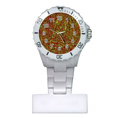 Modern Abstract 45c Plastic Nurses Watch by MoreColorsinLife