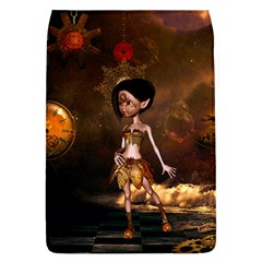 Steampunk, Cute Little Steampunk Girl In The Night With Clocks Flap Covers (l)  by FantasyWorld7