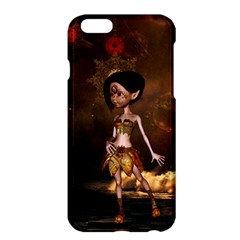 Steampunk, Cute Little Steampunk Girl In The Night With Clocks Apple Iphone 6 Plus/6s Plus Hardshell Case by FantasyWorld7