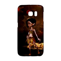 Steampunk, Cute Little Steampunk Girl In The Night With Clocks Galaxy S6 Edge by FantasyWorld7