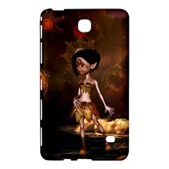 Steampunk, Cute Little Steampunk Girl In The Night With Clocks Samsung Galaxy Tab 4 (7 ) Hardshell Case  by FantasyWorld7