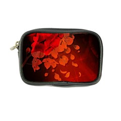 Cherry Blossom, Red Colors Coin Purse by FantasyWorld7