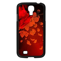 Cherry Blossom, Red Colors Samsung Galaxy S4 I9500/ I9505 Case (black) by FantasyWorld7