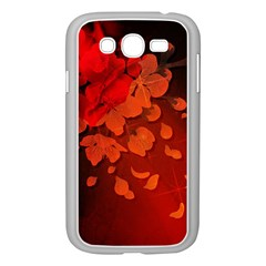 Cherry Blossom, Red Colors Samsung Galaxy Grand Duos I9082 Case (white) by FantasyWorld7