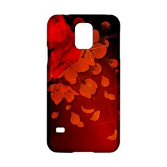 Cherry Blossom, Red Colors Samsung Galaxy S5 Hardshell Case  by FantasyWorld7