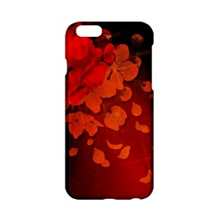 Cherry Blossom, Red Colors Apple Iphone 6/6s Hardshell Case by FantasyWorld7