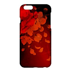 Cherry Blossom, Red Colors Apple Iphone 6 Plus/6s Plus Hardshell Case by FantasyWorld7