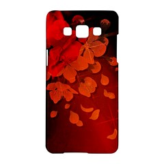 Cherry Blossom, Red Colors Samsung Galaxy A5 Hardshell Case  by FantasyWorld7