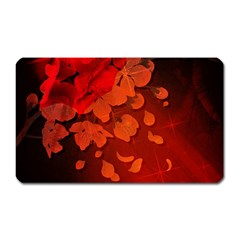 Cherry Blossom, Red Colors Magnet (rectangular) by FantasyWorld7