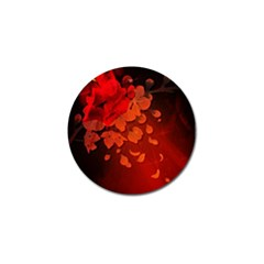 Cherry Blossom, Red Colors Golf Ball Marker by FantasyWorld7