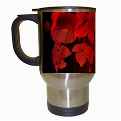 Cherry Blossom, Red Colors Travel Mugs (white) by FantasyWorld7