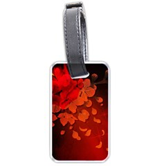 Cherry Blossom, Red Colors Luggage Tags (one Side)  by FantasyWorld7
