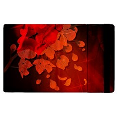Cherry Blossom, Red Colors Apple Ipad 3/4 Flip Case by FantasyWorld7